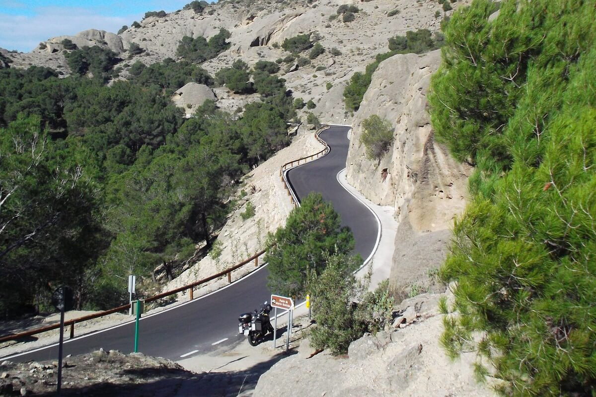 Roads and nature park during our GPS Andaluztour in the South of Spain.