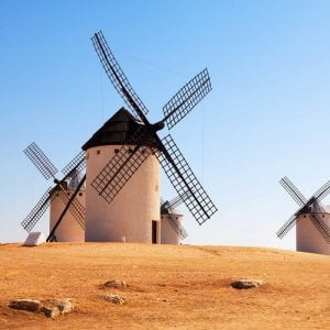 The famous mills of Don Quixote in Campo de Criptana.