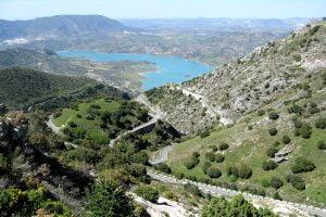 Puerto las Palomas between Grazalema and Zahara de la Sierra Andalusia Spain.