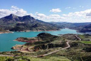 Zahara de Gastor reservoir in the south of Spain.